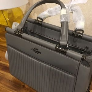 NWT Coach Handbag Heather Grey/Dark Gunmetal